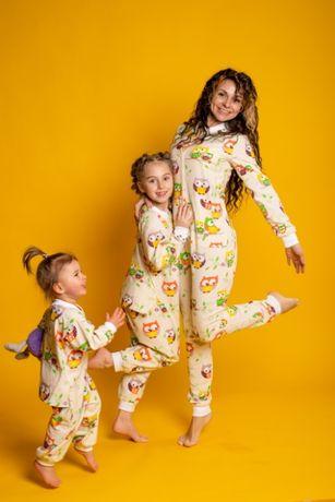 Пижама комбинезон с карманом на попе (попожама) детская Kids