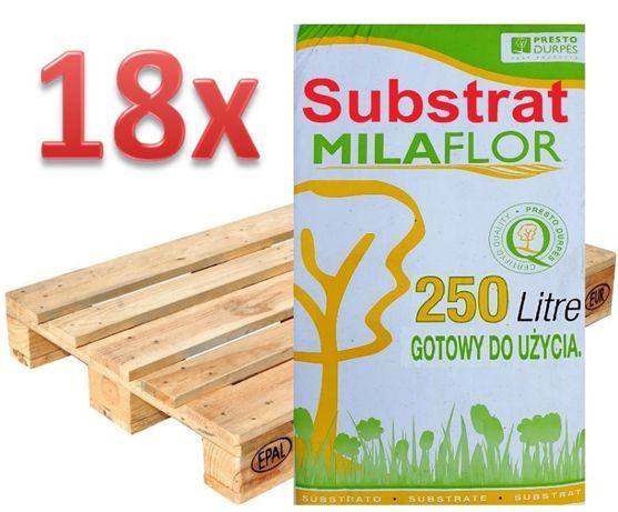 250L Substrat Torfowy = Torf odkwaszony nawoz ziemia ogrodowa kwiatowa