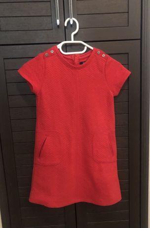 Красное платье Okaidi (рост 128)