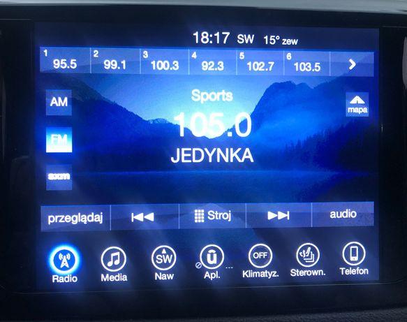 Chrysler Jeep Dodge polskie menu uConnect 8.4 Harman Panasonic