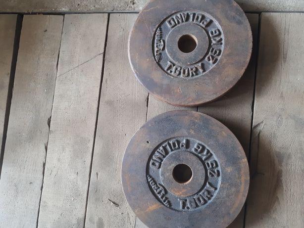 Obciażenie olimpijskie żeliwne 2x25kg 50kg
