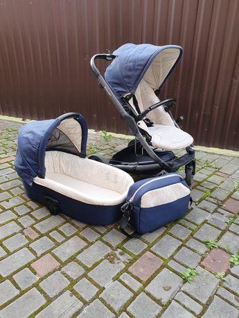 Дитяча коляска 2в1 X-lander x- cite, синього кольору