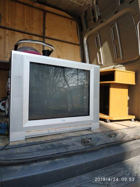 Продам телевизор с тумбочкой