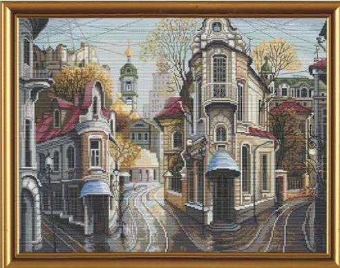 """Картина """"Перекрестки дорог"""", вышитая крестом"""