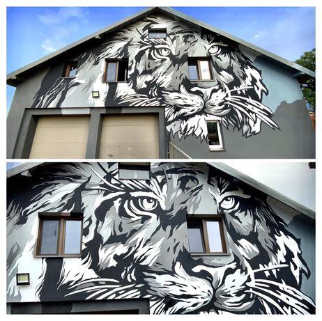 Malowanie artystyczne, graffiti, mural, aerograf, reklama, fototapeta