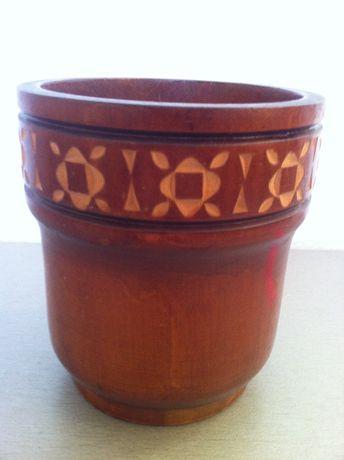Стакан ваза емкость дерево СССР, народный промысел.