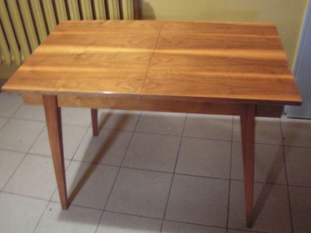 Stół Swarzędz drewniany orzech połysk