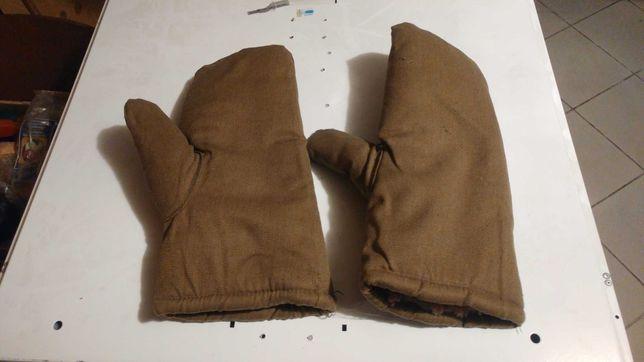 Rękawice męskie ocieplane wojskowe