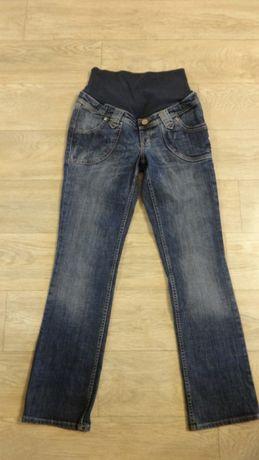 Синие плотные брюки штаны джинсы для беременных р 26 27 S 42 44
