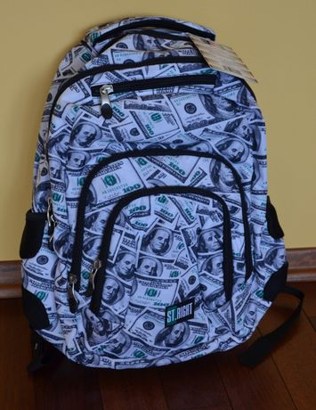 Plecak tornister dolary dollars NOWY! plus worek