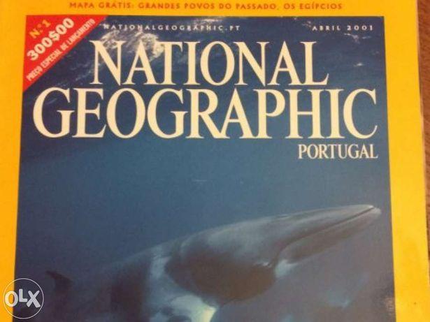 Coleção de 120 revistas National Geographic