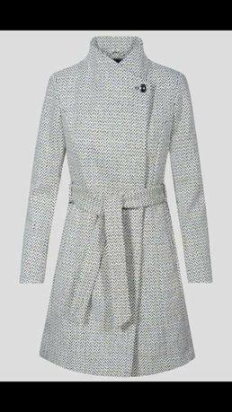 Płaszcz wiosenny żakardowy Orsay z dodatkiem wełny