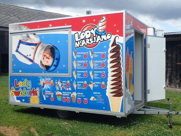 Sprzedam przyczepę gastronomiczną,maszynę do lodów świderków, Granitor