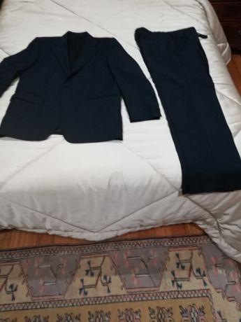 Fato Cortefiel tam.52 calça 42-43 azul marinho como novo
