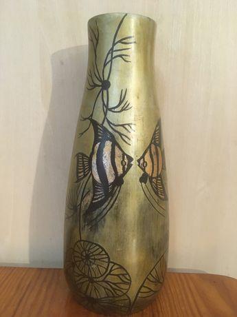 Продам деревянную винтажную вазу. Вісота 23 см.