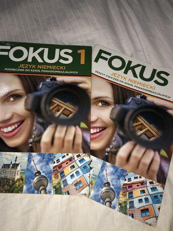 Fokus 1 język niemiecki podręcznik + ćwiczenia