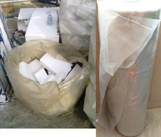 Rękaw foliowy 150cm worek cięty z metra na odpady styropianowe śmieci