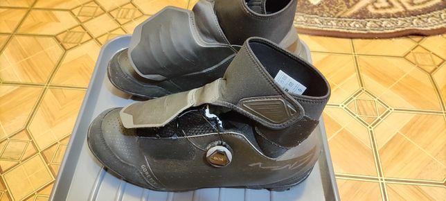 Зимняя велообувь Shimano SH-MW7 (контактные педали) чёрные