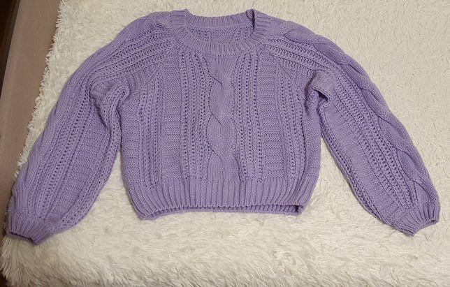 Укороченный свитер over size