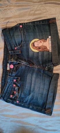 Шорти джинсові з принтом Лана Дель Рей