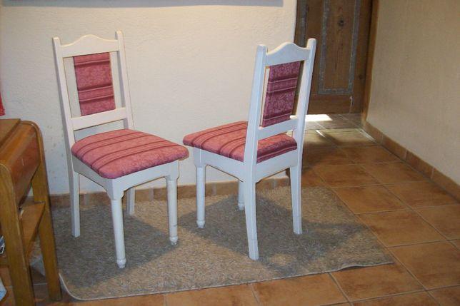 krzesła w stylu prowansalskim x2