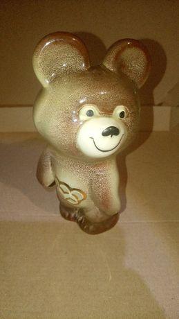 Статуэтка олимпийский мишка Будянский завод СССР