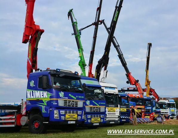 Usługi transportowe hds,transport łodzi, kontenerów 12 metrowych,