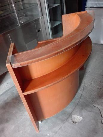 Balcão em madeira redondo para fazer L 1000/1000x750 mm