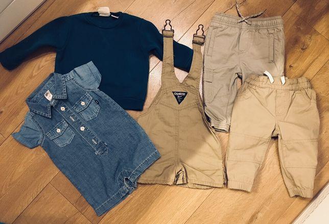Komplet ubranek ZARA spodnie body bluza ogrodniczki Zara