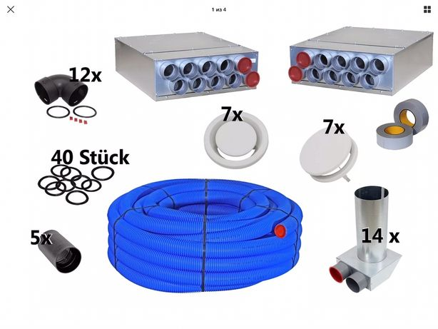 Вентиляція монтаж рекуператорів приточно-витяжних клапанів