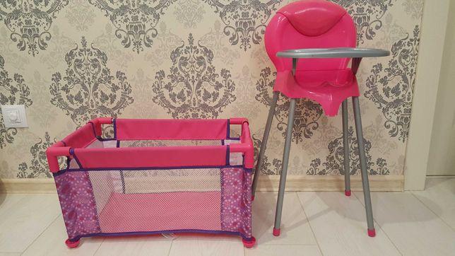 Игровой набор стульчик для кормления и манеж фирма Graco бу