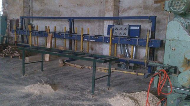 Прес для склеювання стінового бруса шириною до 35 см довжиною до 8 м
