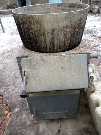 Котёл на дровах с варочной поверхностью под казан на 4 ведра