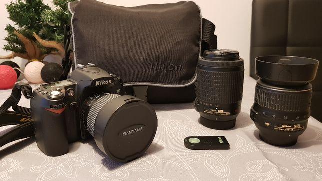 Nikon D90 + 3 obiektywy + akcesoria