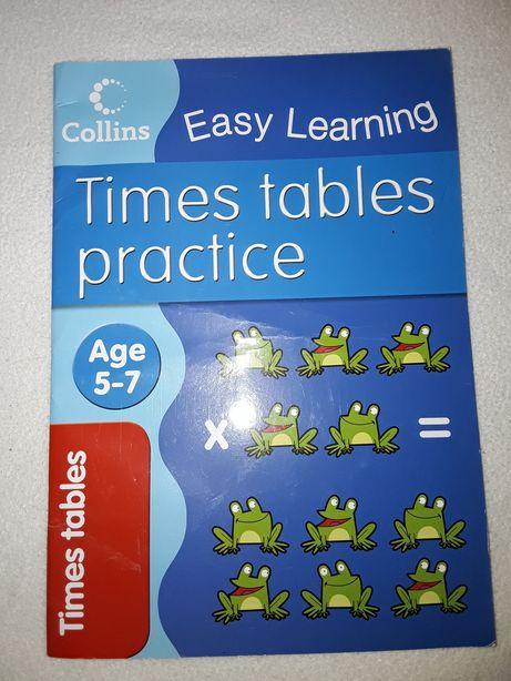 Тетрадь на 5-10 лет для изучения таблицы умножения на английском языке