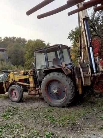 Продам Экскаватор Борекс-2101,база ЮМЗ,трактор с лопатой и челюстями.