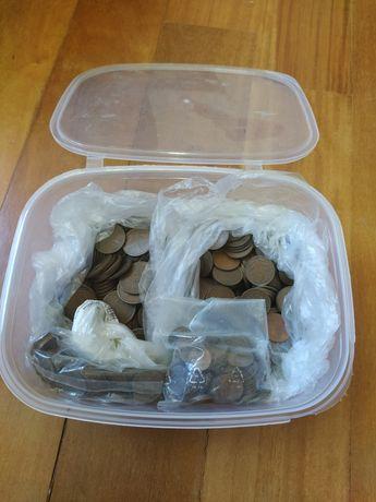 Lote de moedas 1 esc, 50, 20 e 10 centavos