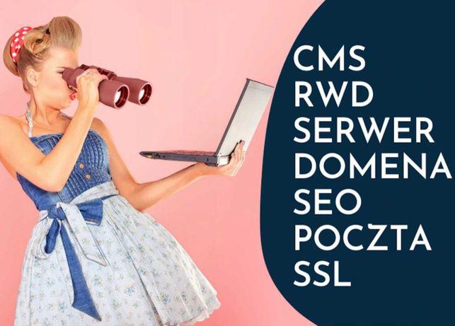 Strona internetowa -Tworzenie stron www DLA FIRM +host +domena +SSL