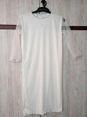 Sukienka anioł, przebranie, komunia r. 110-122cm.