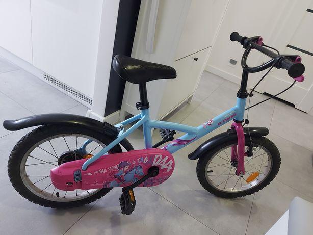 Rower 16 cali b-twin + uchwyt + boczne koła