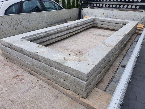 Fundament - Rama betonowa pod pomnik, nagrobek 115x245