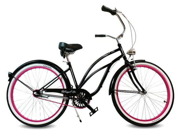 Rower miejski beach CRUISER Dark Lady damski 3 biegowy