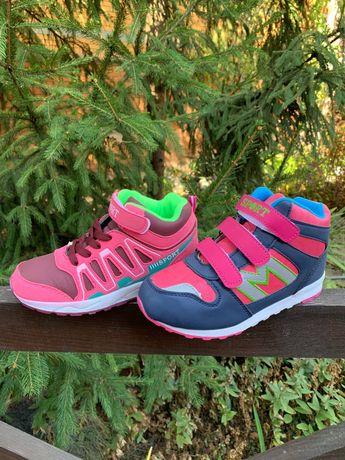 33-34р Демисезонные ботинки на девочку новые кроссовки
