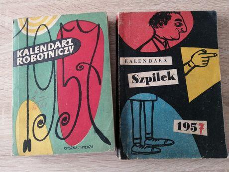Kaledarz robotniczy plus kalendarz szpilek 1957r