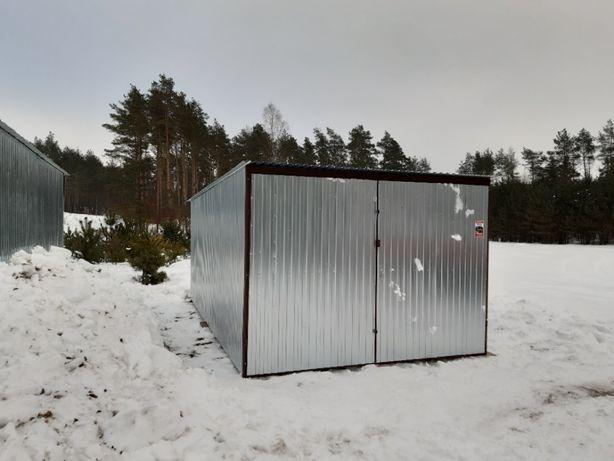 Garaż blaszany 3x5, ocynk, dostępne inne wymiary