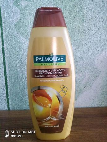 Шампунь Palmolive яєчний протеїн і ваніль 2в1 для сухого волосся