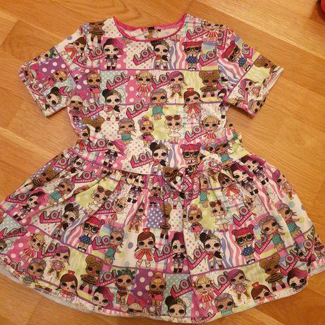 Sukienka Lol roz. 110 jak nowa!