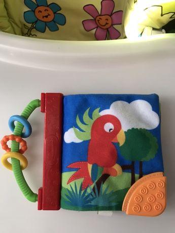 Мягкая , развивающая книжечка для малыша