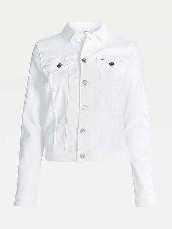 TOMMY HILFIGER -kurtka jeansowa biała r. M