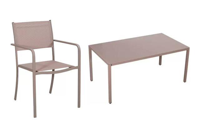 FLORALAND Zestaw mebli ogrodowych LIVORNO II Stół + 6 krzeseł